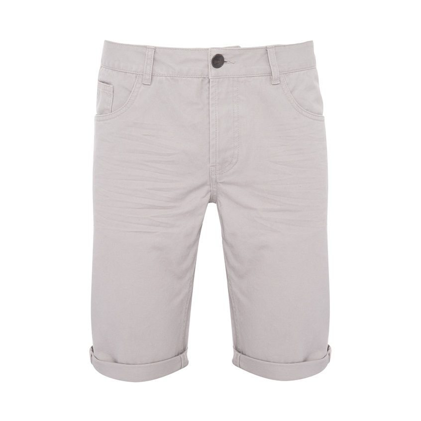 pantalon corto gris primark