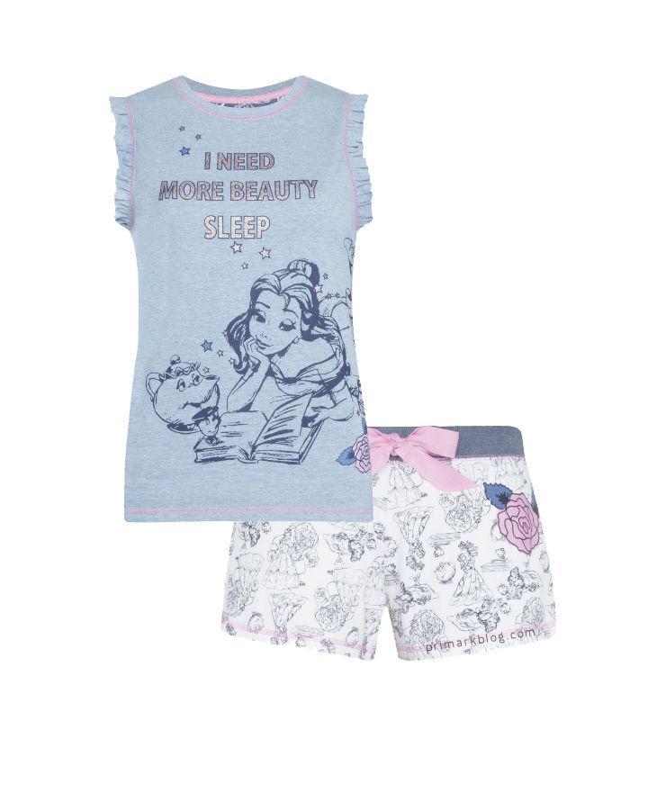 Pijama con pantalón corto de La Bella y la Bestia 6€
